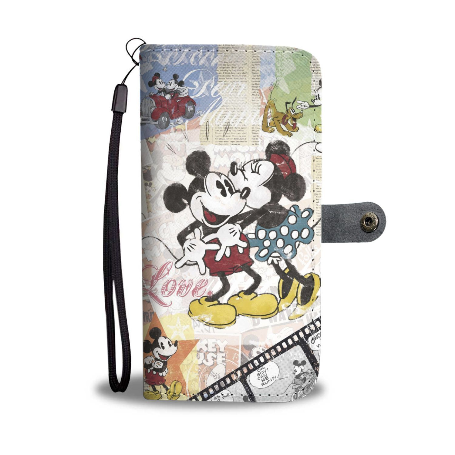 huge discount 27ec9 79662 Classic Mickey And Minnie Mouse Love Wallet Phone Case