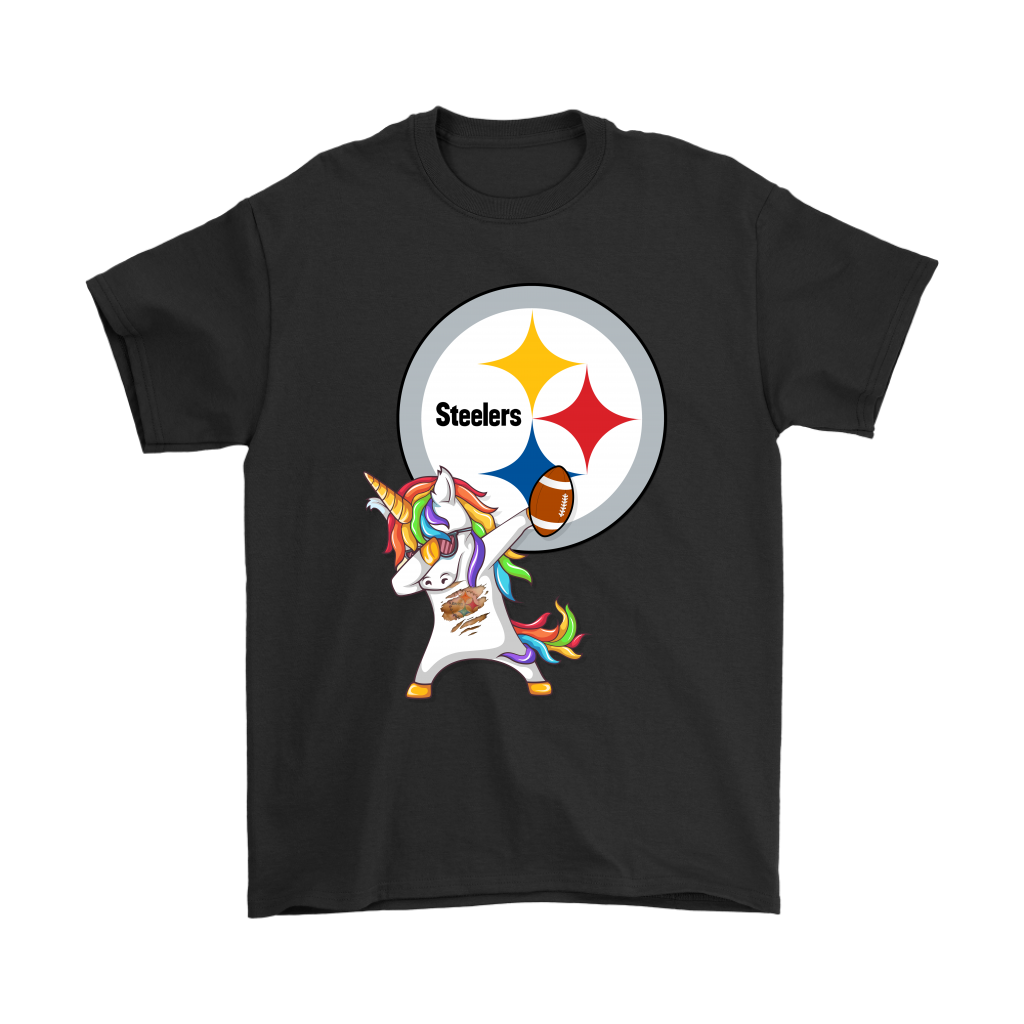 check out 73ab5 f159d Dabbing Hip Hop Unicorn Dab With Pittsburgh Steelers Football Shirts