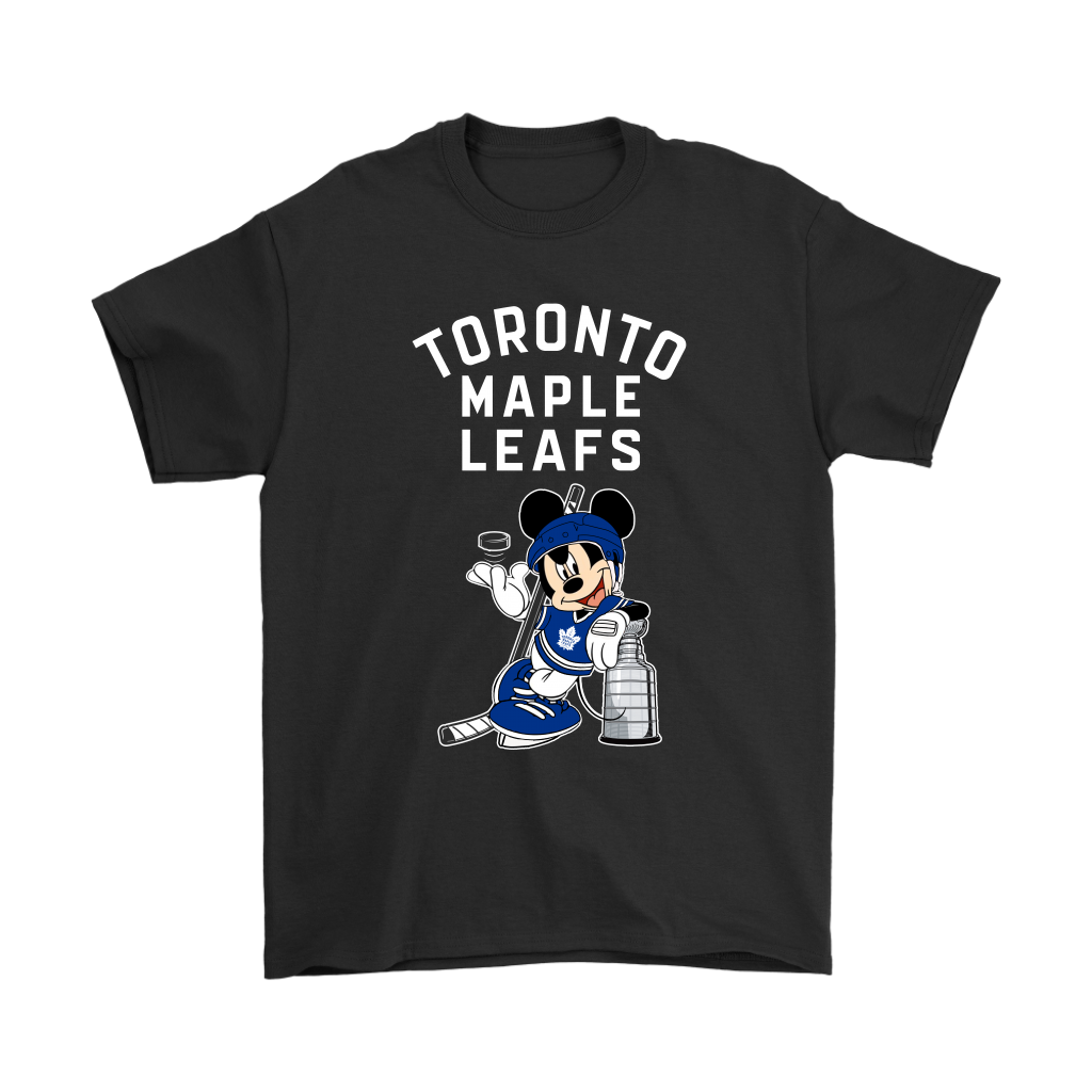 reputable site 7de05 879ab Mickey Toronto Maple Leafs With The Stanley Cup Hockey NHL Shirts