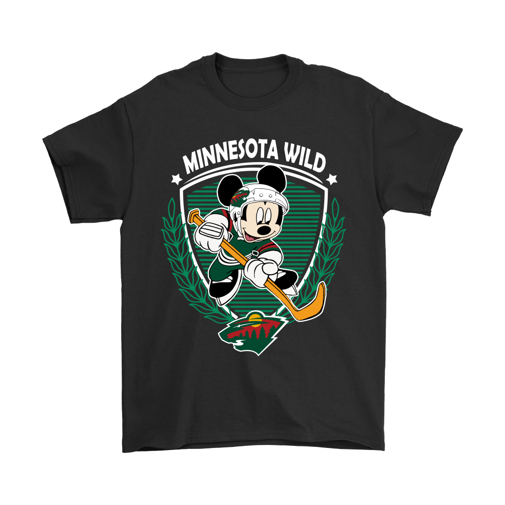 new concept f9d8c 865bc NHL Hockey Mickey Mouse Team Minnesota Wild Shirts
