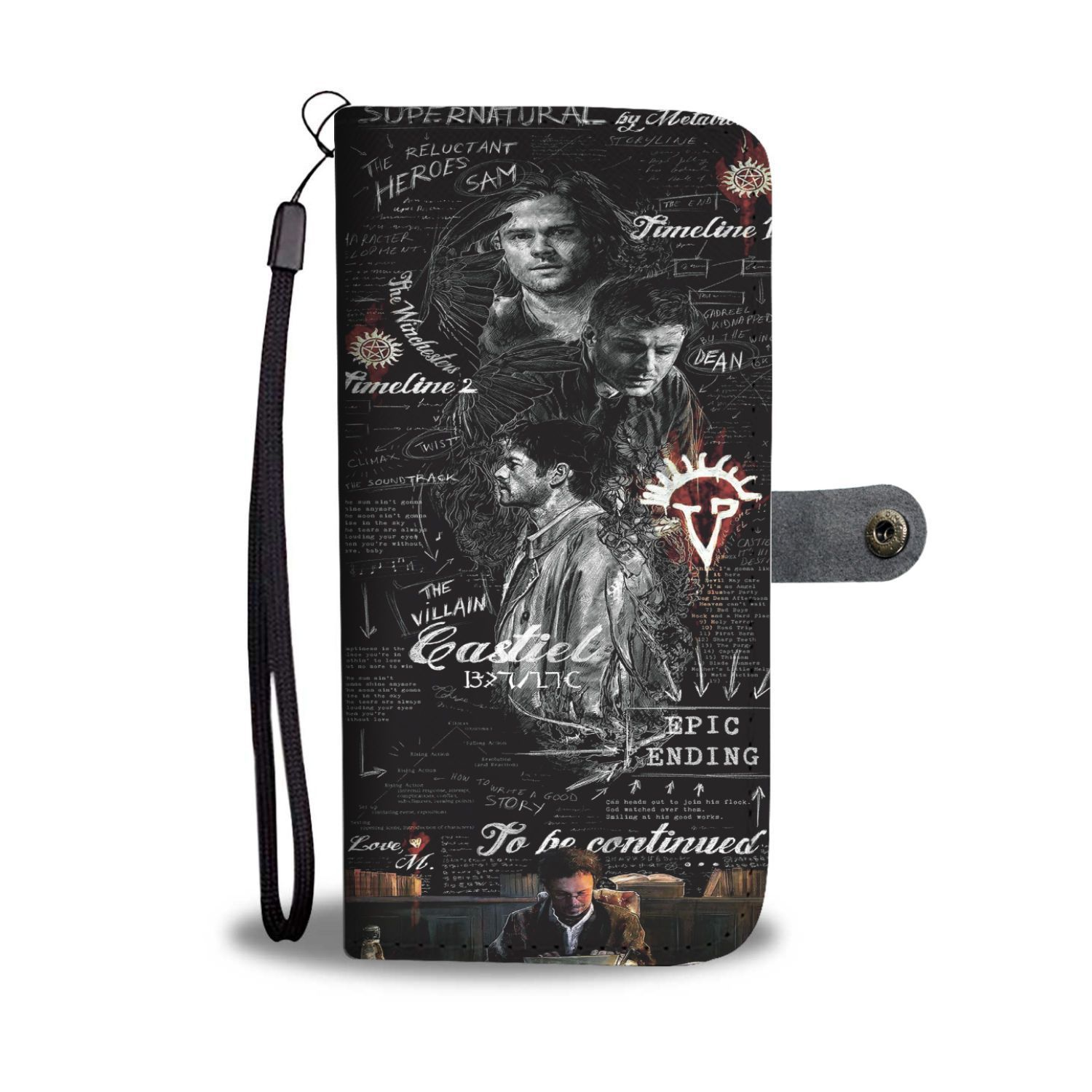 8b213150 Supernatural Script By Metatron Wallet Phone Case - TeexTee Store