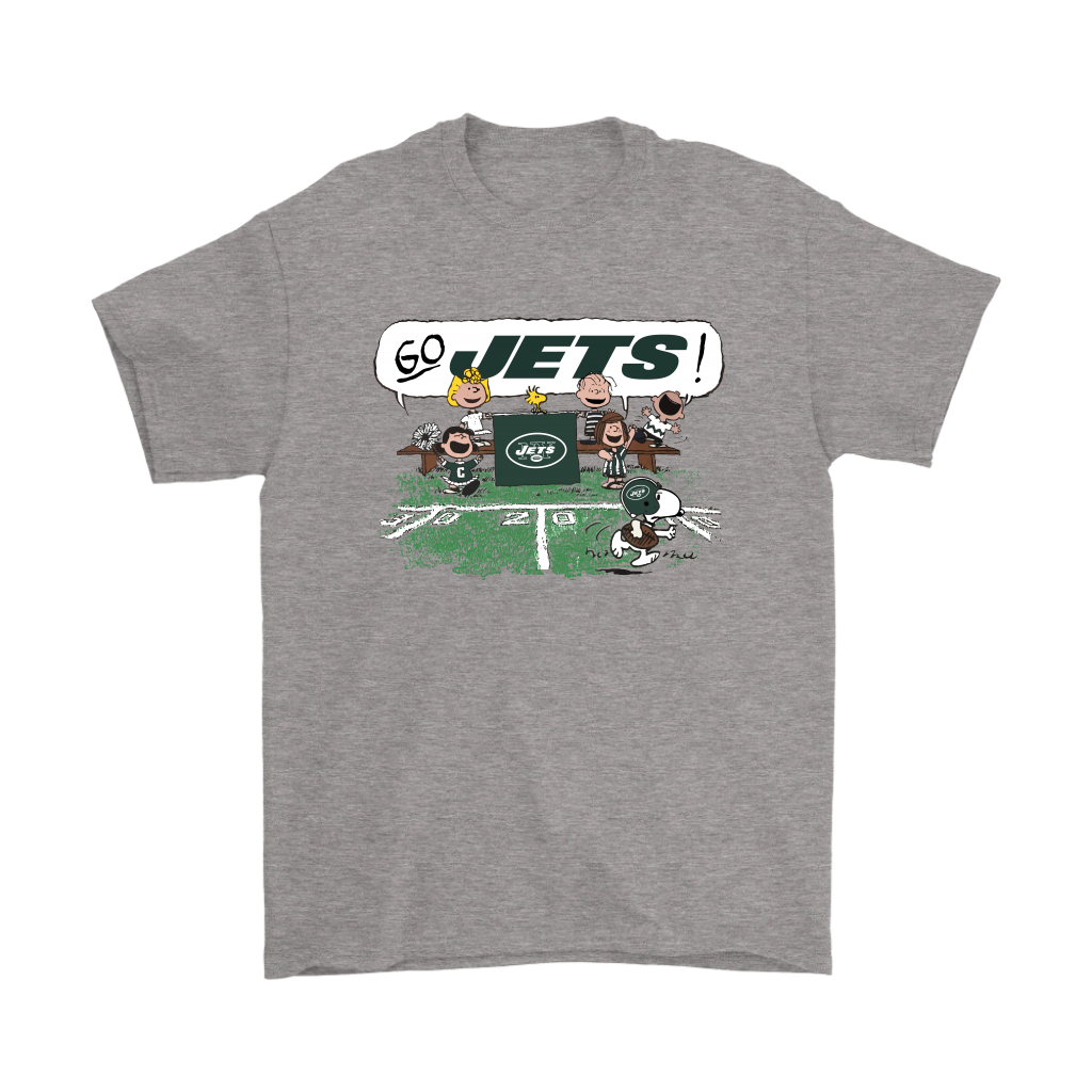 online store 1bc3a 0c736 The Peanuts Cheering Go Snoopy New York Jets Shirts