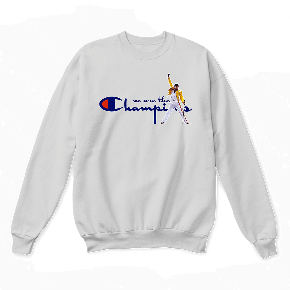 c104ac65c We Are The Champions Queen Freddie Mercury Sweater - Teeqq Store