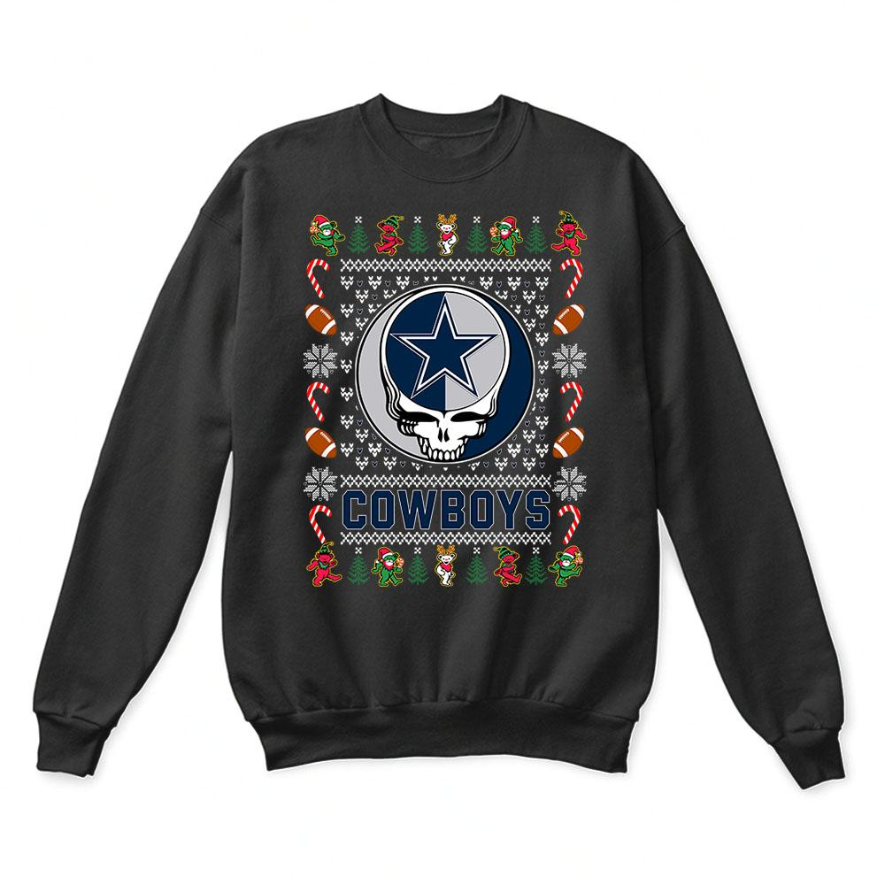 pretty nice 7c4c4 6bfeb Dallas Cowboys x Grateful Dead Christmas Ugly Sweater