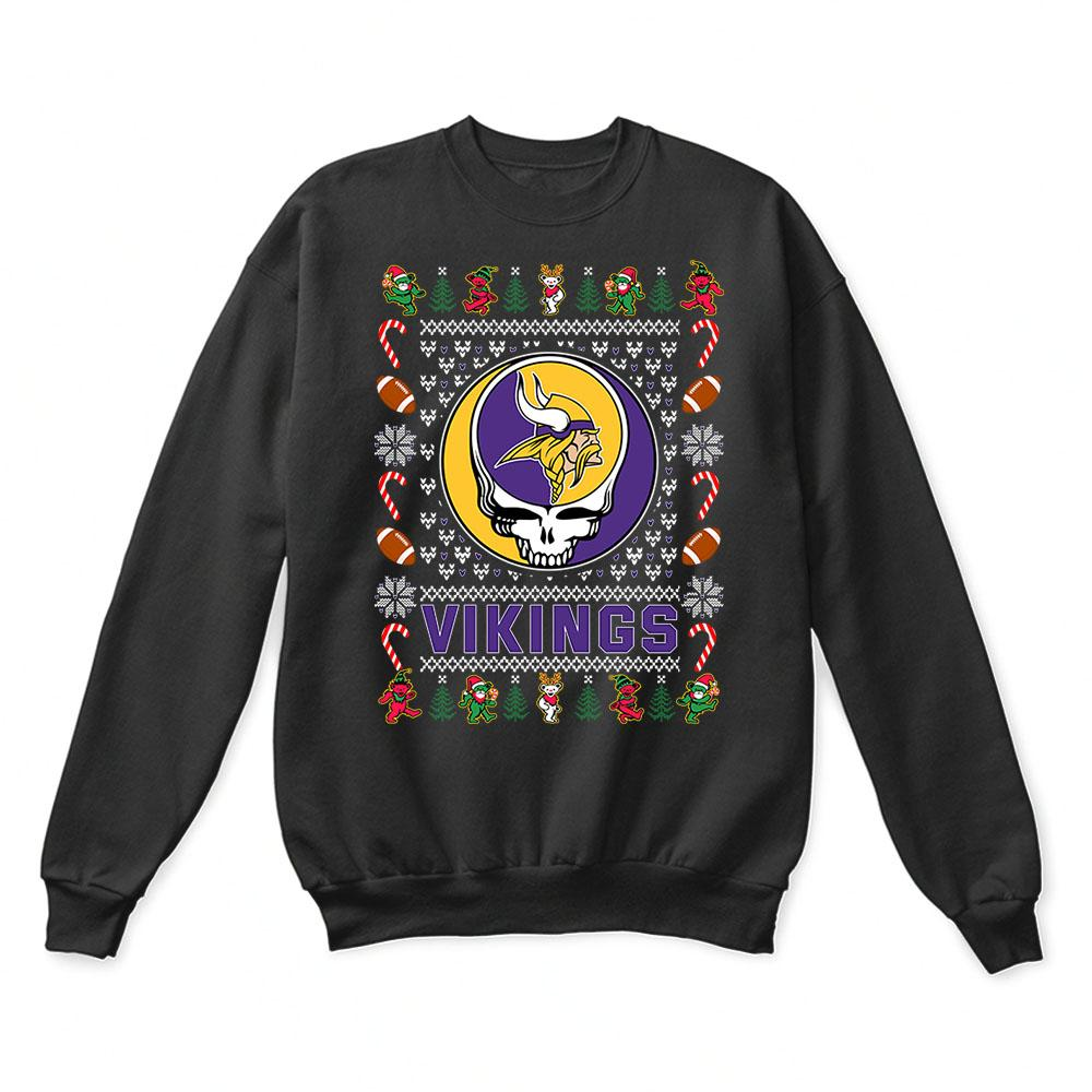 premium selection 197b4 73345 Minnesota Vikings x Grateful Dead Christmas Ugly Sweater