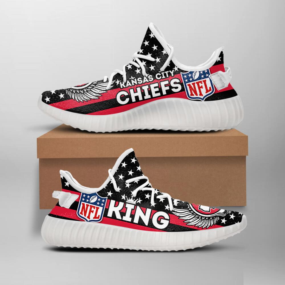 hot sale online 81564 78b77 Kansas City Chiefs King NFL Like Yeezy Chiefs Shoes