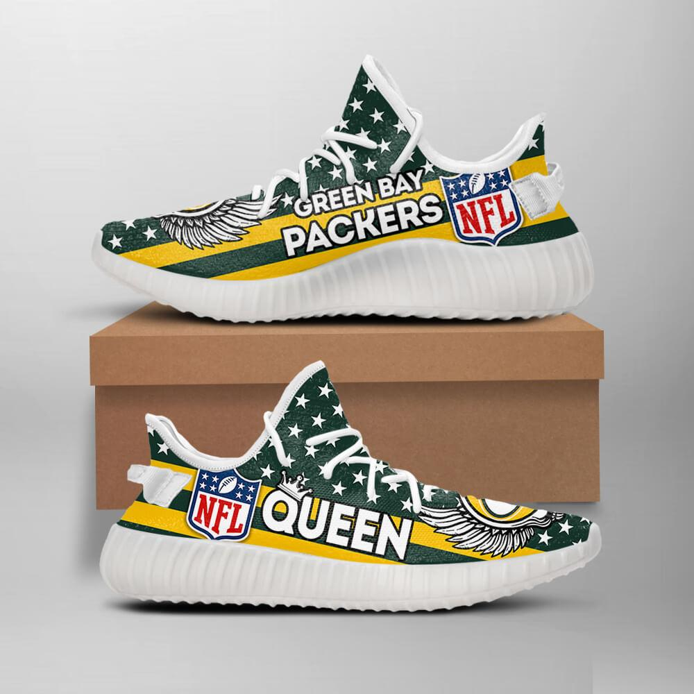 Green Bay Packers Queen NFL Like Yeezy Packers Shoes